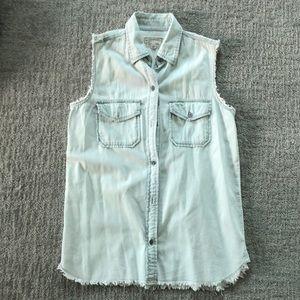 Current Elliot sleeveless cotton shirt sz 0